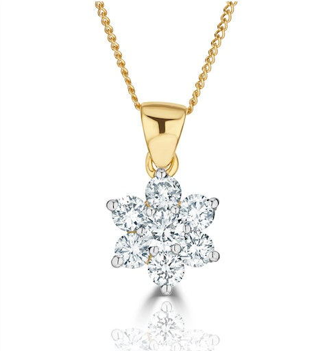 0.50ct G/vs Diamond and 18K Gold Pendant - FR27-72XUA - image 1