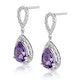 Amethyst 2.47CT And Diamond 9K White Gold Earrings - image 2