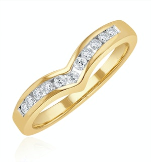 Diamond 0.27ct 9K Yellow Gold Wishbone Ring