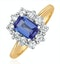 Tanzanite 7 x 5mm And Diamond 0.50ct 18K Gold Ring  FET24-V - image 1
