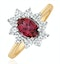 Pink Tourmaline 0.80CT and Diamond Halo Ring in 18K Gold - FET25 - image 1