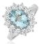 Aquamarine 1.7ct and Diamond 1.00ct Cluster Ring Set in Platinum - image 1