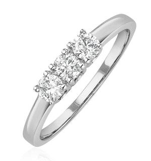 Chloe Platinum 3 Stone Diamond Ring 0.50CT G/VS