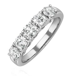 Chloe 18K White Gold 5 Stone Diamond Eternity Ring 1.00CT G/VS