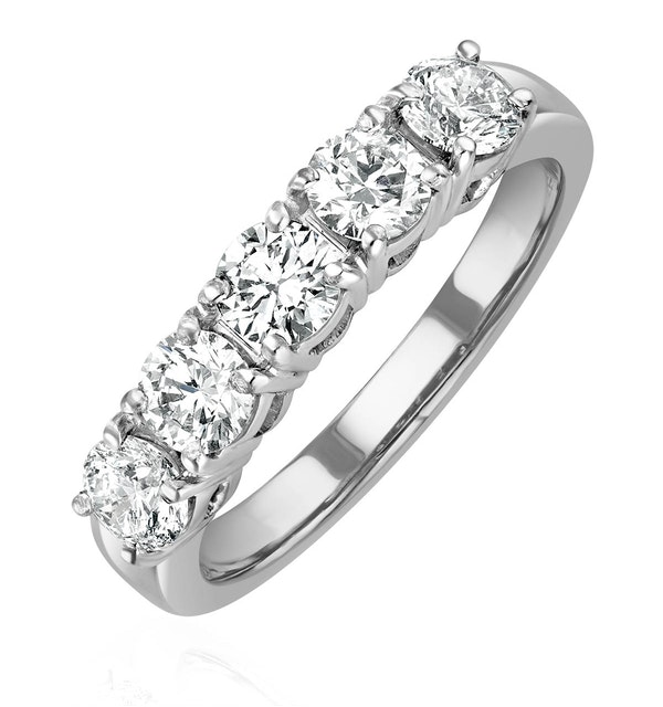 Chloe Platinum 5 Stone Diamond Eternity Ring 1.00CT G/VS - image 1