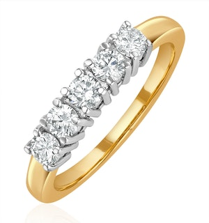 Chloe 18K Gold 5 Stone Diamond Eternity Ring 0.50CT H/SI