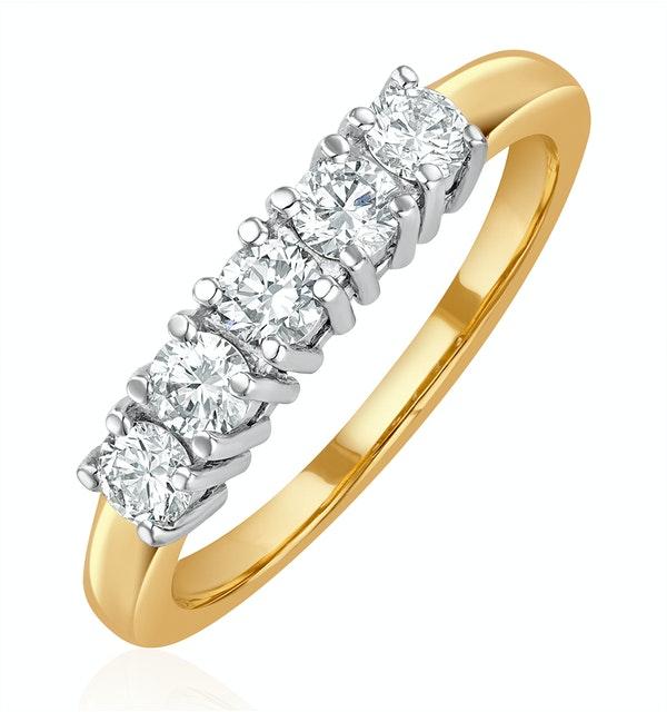 Chloe 18K Gold 5 Stone Diamond Eternity Ring 0.50CT G/VS - image 1