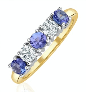Tanzanite 0.75CT and Diamond Ring 0.40CT 18K Gold FT26