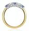 Tanzanite 0.75CT and Diamond Ring 0.40CT 18K Gold FT26 - image 3