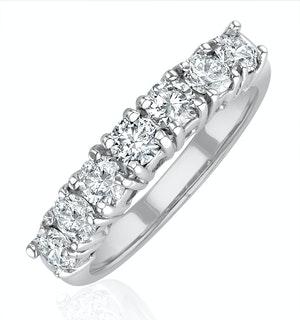 Chloe 18K White Gold 7 Stone Diamond Eternity Ring 1.00CT H/SI