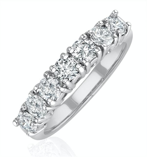 Chloe Platinum 7 Stone Diamond Eternity Ring 1.00CT H/SI - image 1