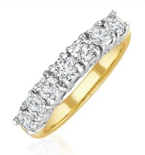 Chloe 18K Gold 7 Stone Diamond Eternity Ring 1.00CT G/VS