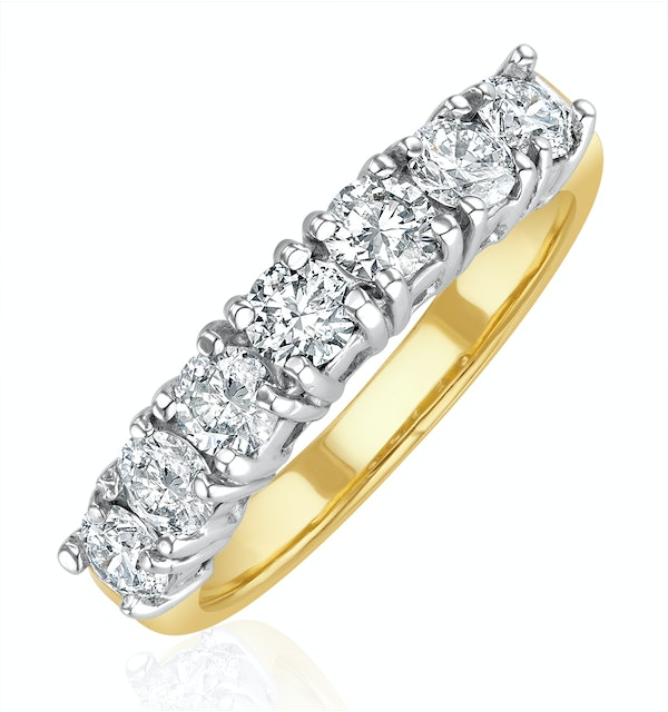 Chloe 18K Gold 7 Stone Diamond Eternity Ring 1.00CT PK - image 1