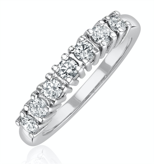 Chloe Platinum 7 Stone Diamond Eternity Ring 0.30CT H/SI - image 1