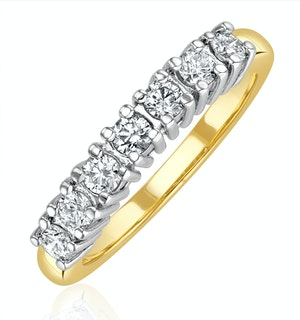 Chloe 18K Gold 7 Stone Diamond Eternity Ring 0.30CT PK