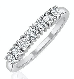 Chloe Platinum 7 Stone Diamond Eternity Ring 0.50CT H/SI