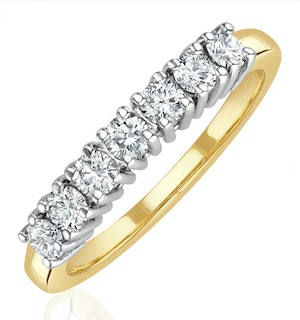 Chloe 18K Gold 7 Stone Diamond Eternity Ring 0.50CT PK
