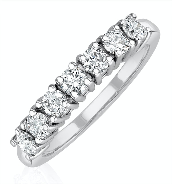 Chloe Platinum 7 Stone Diamond Eternity Ring 0.75CT G/VS - image 1