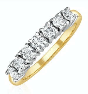 Chloe 18K Gold 7 Stone Diamond Eternity Ring 0.75CT PK