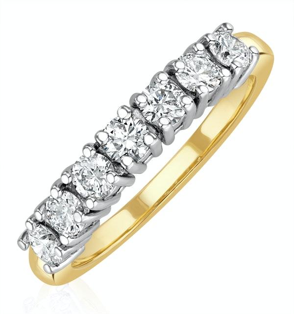 Chloe 18K Gold 7 Stone Diamond Eternity Ring 0.75CT G/VS - image 1