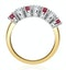 Ruby 1CT and Diamond Ring 0.50CT 18K Gold FT32 - image 3