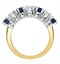 Sapphire 1CT and Diamond Ring 0.50CT 18K Gold FT32 - image 3