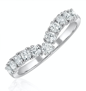 Diamond Wishbone Ring 0.70ct in 18K White Gold