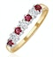 Ruby 0.30ct And Diamond 9K Gold Ring - image 1
