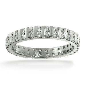 Mens 1ct G/Vs Diamond Platinum Full Band Ring