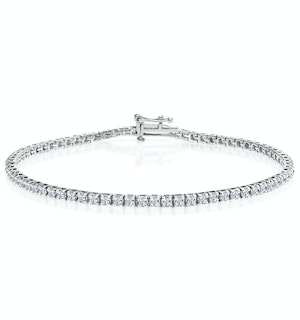 1.5ct Lab Diamond Tennis Bracelet Claw Set in 925 Silver