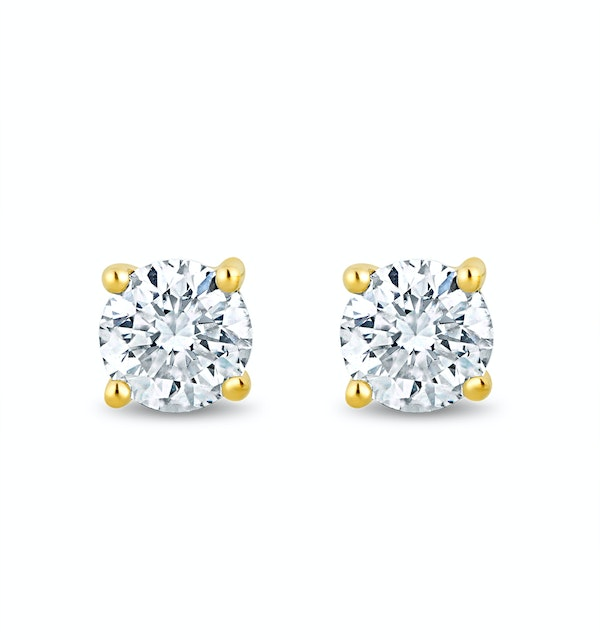 Lab Diamond Stud Earrings 0.20ct H/Si Quality in 9K Gold - 3mm - image 1