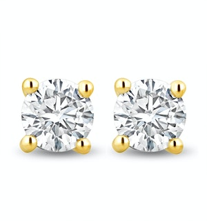 Lab Diamond Stud Earrings 1.00ct H/Si Quality in 9K Gold -  5.2mm
