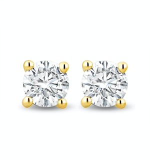 Lab Diamond Stud Earrings 0.50ct H/Si Quality in 9K Gold -  4.2mm