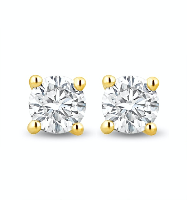 Lab Diamond Stud Earrings 0.50ct H/Si Quality in 9K Gold -  4.2mm - image 1