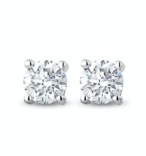 Lab Diamond Stud Earrings 0.50ct H/Si Quality in 9K White Gold - 4.2mm