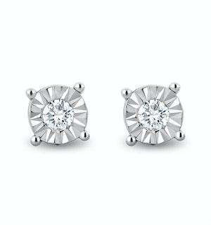 Lab Diamond Stud Earrings 5mm 0.10ct H/Si in 925 Silver