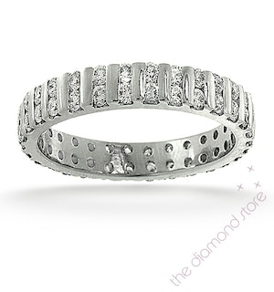 Eternity Ring Ellie Platinum Diamond 2.00ct G/Vs