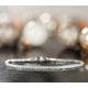 Chloe Lab Diamond Tennis Bracelet  3.00ct H/Si Set in 9K White Gold - image 3