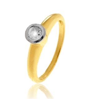 Diamond 0.18ct 9K Gold Ring - RTC-E3235