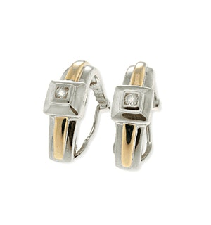 9K White Gold Diamond Earrings (0.11ct)