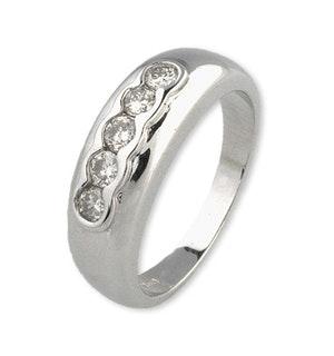 18K White Gold Chunky Ladies Diamond Ring