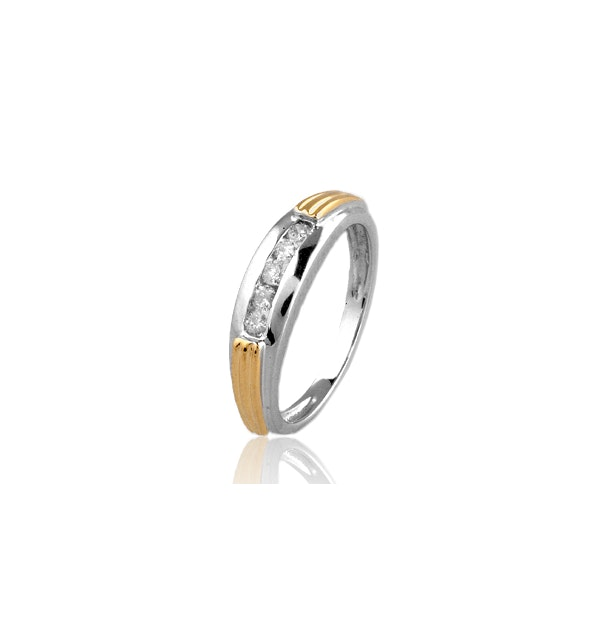 0.20ct Diamond and 9K Two Tone Ring - RTC-E3325 - image 1