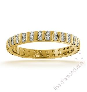 Eternity Ring Ellie 18K Gold Diamond 0.50ct G/Vs