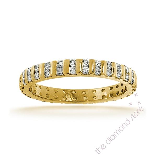 Eternity Ring Ellie 18K Gold Diamond 0.50ct G/Vs - image 1