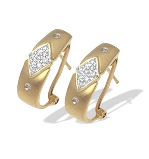 9K White Gold Diamond Detail Earrings (0.20ct)