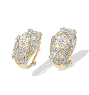 9K Gold Diamond Design Earrings (0.65ct)