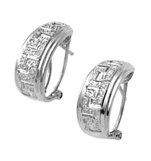 Diamond 0.20ct and 9K White Gold Earrings - RTC-H3329