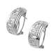 Diamond 0.20ct and 9K White Gold Earrings - RTC-H3329 - image 1