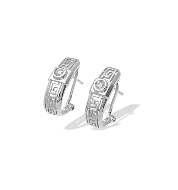 0.13ct Diamond Design Earrings In 9K White Gold - image 1