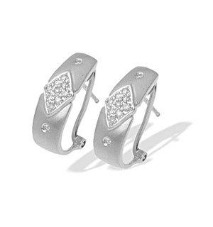 9K White Gold Diamond Design Earrings (0.20ct)